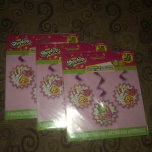 Shopkins, 3 sets, hanging decorations, new